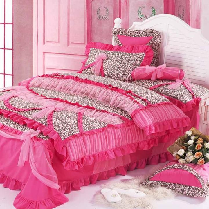 shabby chic bedding purple flower cute girls bedding bedclothes sheet chic