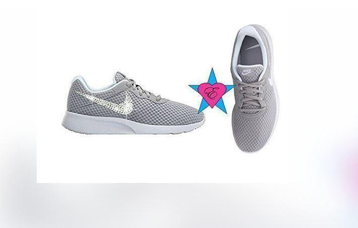 01dc88c72ef7 Gray Women Glitter Sneakers Bling Nike Tanjun Shoes