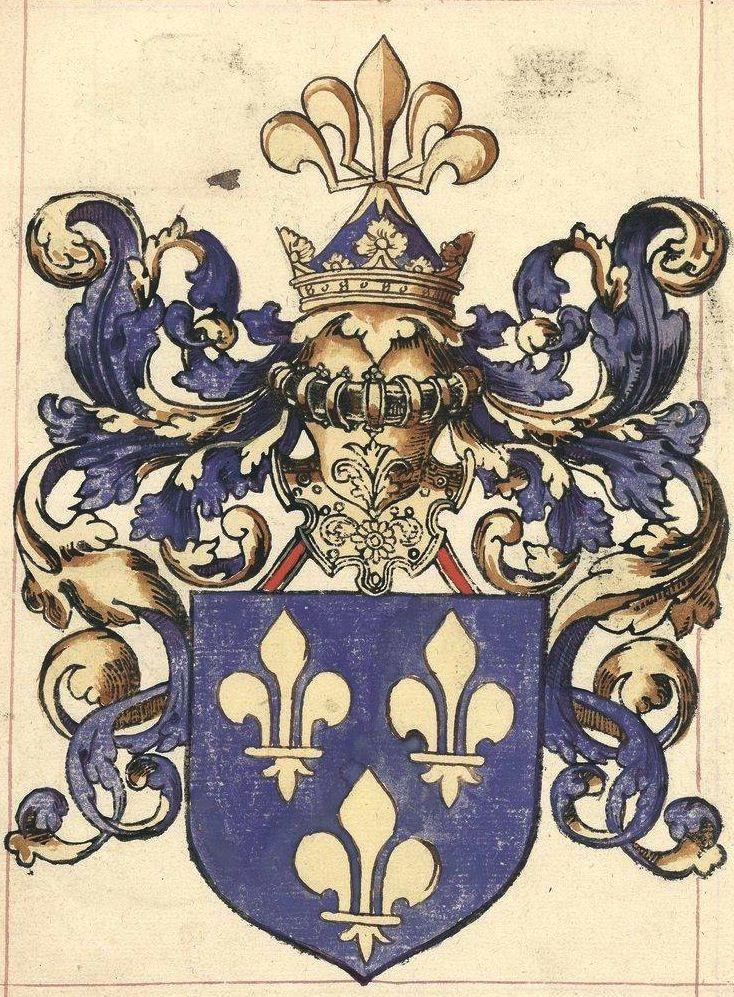«Armorial LE BLANCQ» ou «Un Provincial d'armoyries...», 1560 [BNF Ms Fr 5232] -- Les armes de France.