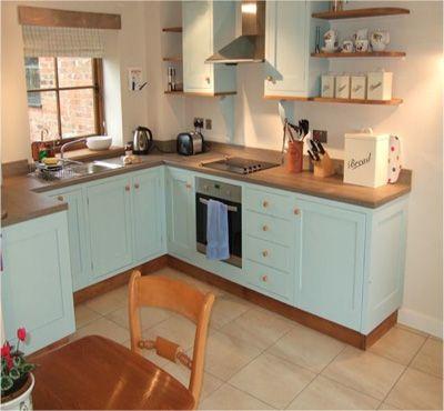 Duck egg blue kitchen idea