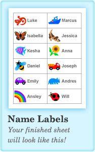 Label Maker Left Name Labels