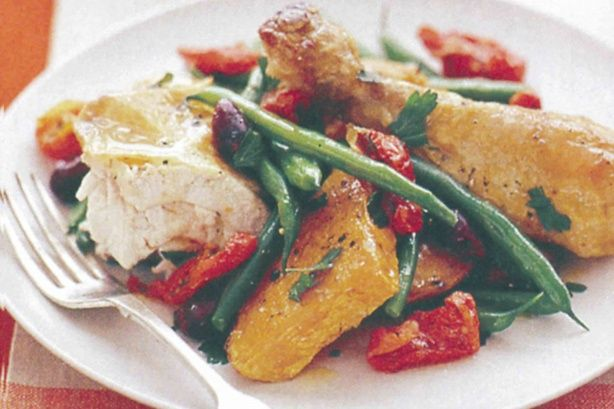 Warm and hearty, this chicken salad is perfect for when the weather starts to get cooler.
