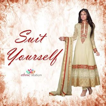 Suit yourself! Find a glamorous salwar kameez to 'suit' you at any event. Shop now @ http://goo.gl/KmnIwH