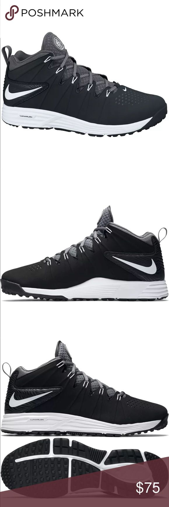 Men's Nike Huarache 4 LAX Turf Shoes 11.5 New Without the Box! The Nike Huarache 4 LAX Lacrosse Turf Shoes were strategically designed for the shifty lacrosse player that relies on change of direction dodging. With its mid-cut design weighing in at 10.5 ounces, the Huarache's will provide excellent ankle support and lightweight performance. Nike also included a durable matted leather liner material that gives off a look of intimidation Nike Shoes Athletic Shoes