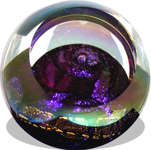 Venus Celestial Planet Hand Blown Glass Paperweight | Planet Stargazing Astrology desk art | Museum gifts
