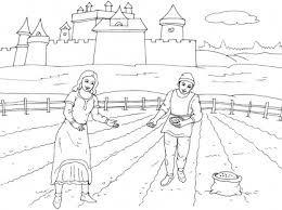 R sultat de recherche d 39 images pour coloriage paysan moyen age expo pinterest search - Dessins moyen age ...