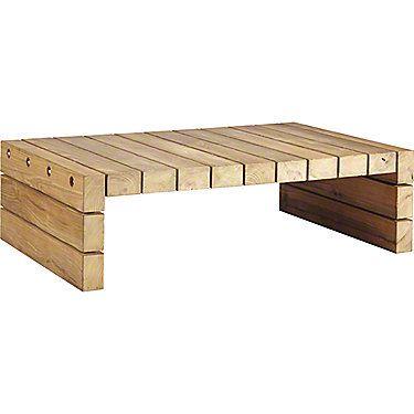 McGuire Furniture: Reclaimed Teak Cocktail Table: TK-262