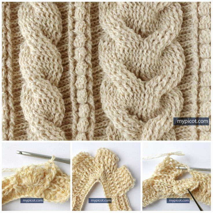 Вязание объемных кос крючком.