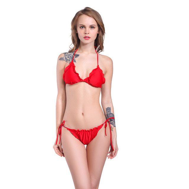 New Extreme Sexy Lingerie Women's Swimwear Retro Low Waist Bathing suits swimsuit Beachwear Bikini Set