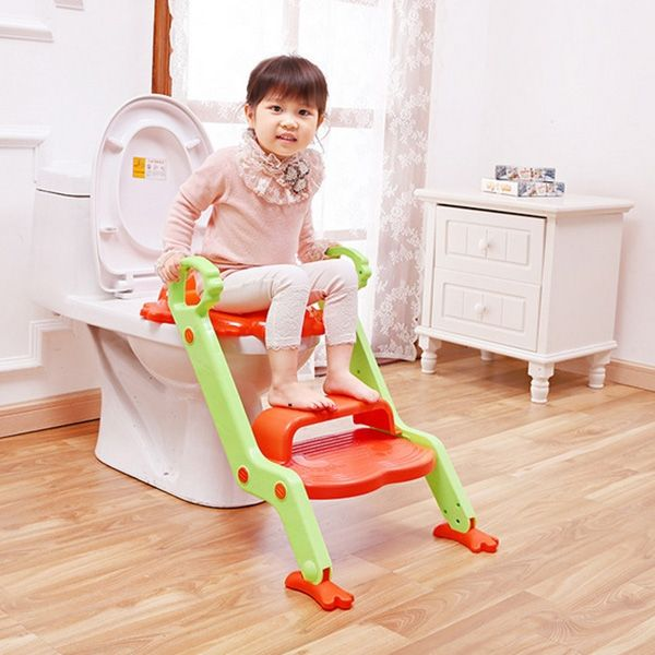 (37.43$)  Watch now - http://ainac.worlditems.win/all/product.php?id=32686289274 - New Arrival Child Toilet Seat with Steps Baby Safety Step Ladder Potty Foldable Non-slip Infant Toilet Seat Kids Toilet Trainer