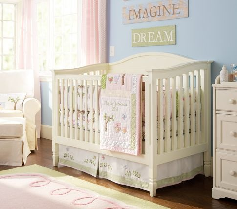 Madison Fixed Gate crib and Hayley bedding