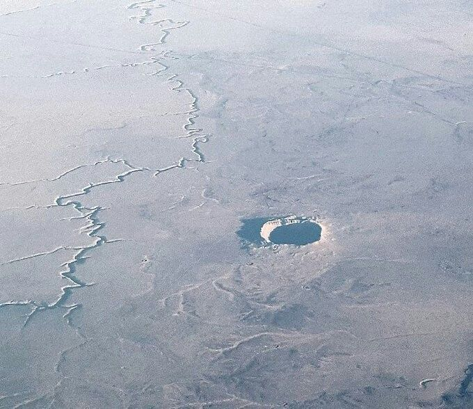 Arizona Meteor Crater in early morning light   Geology