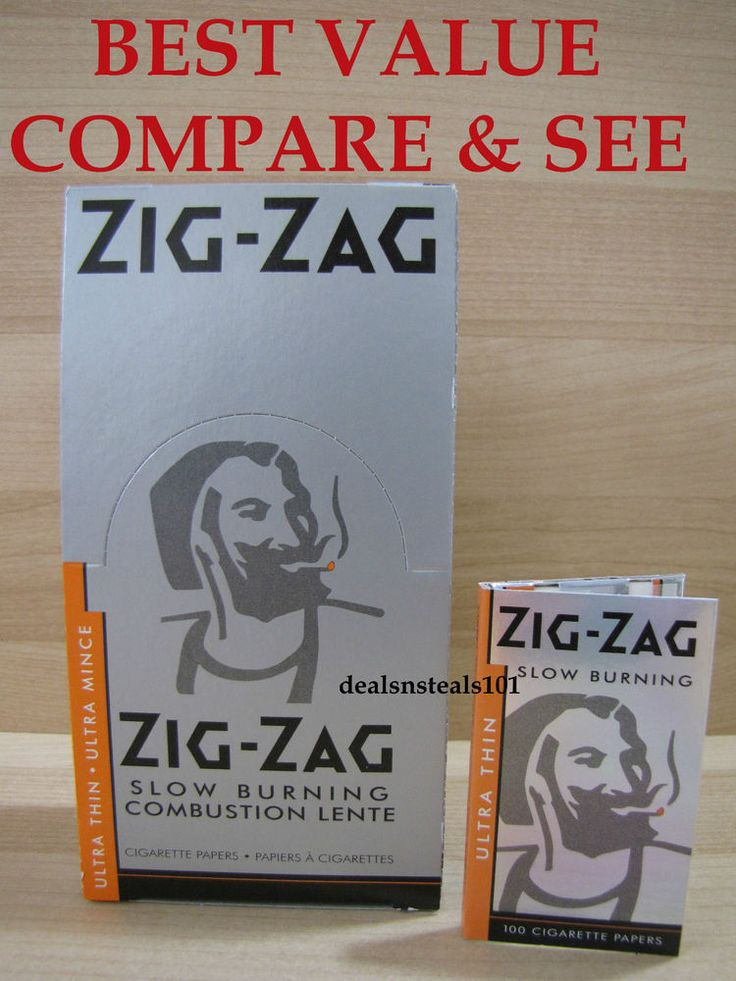 25 BOX ZIG ZAG ULTRA THIN SLOW BURNING ROLLING PAPERS 100 LEAVES PER PACK