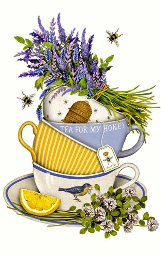 Lavender Tea Cup (Mary Lake Thompson)