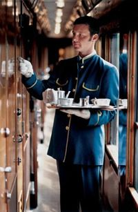 * First class service on the Orient Express.