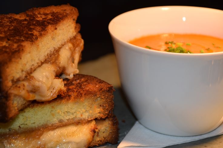 Grilled Cheese and Tomato BIsque - it's comfort food for adults... http://www.hockley.com/grilled-cheese-with-apple-butter-and-house-made-tomato-soup/