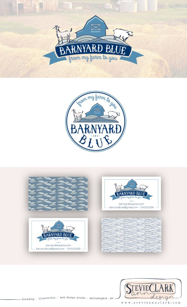 25 best farm logos images on pinterest legos apartment design branding and logo set for barnyard blue hand drawn logo branding identity magicingreecefo Choice Image