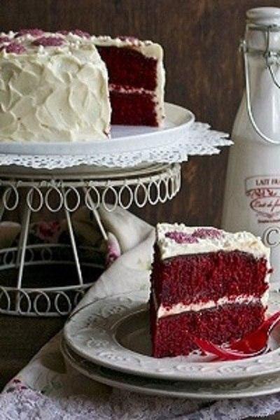 """Натуральный торт """"Красный бархат"""" (без красителей)."""
