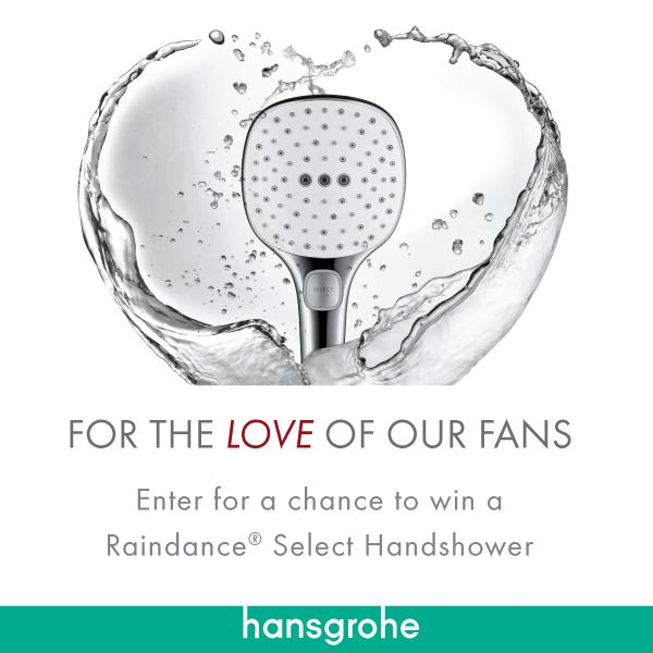 Enter for a chance to win 1 of 25 Hansgrohe Raindance Select Handshowers! #FortheLoveofOurFans #SelectHansgrohe