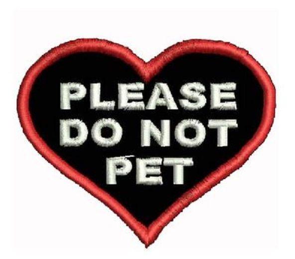 Do Not Pet Service Dog Patch Heart Shaped Service Dog Vests