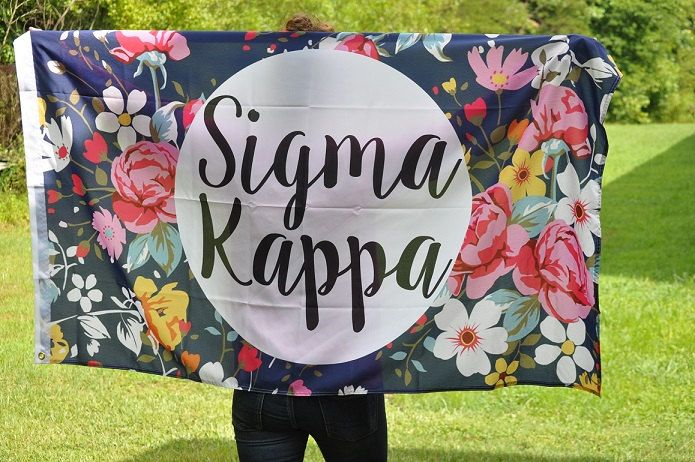 Sigma Kappa Floral Flag by NowGreek on Etsy