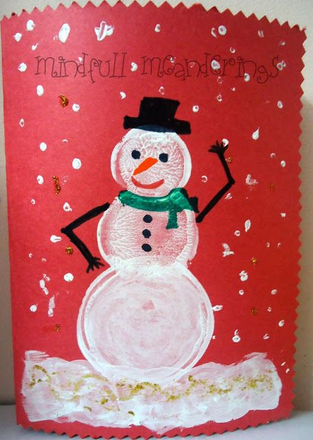   Make your own Snowman Card for Christmas    #GlitterCrafts #DIYCard #ChristmasCrafts #Age3 5 #Age2 3