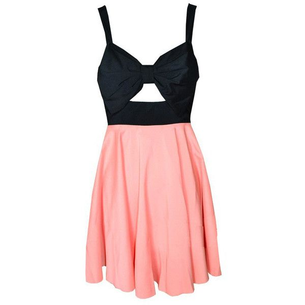 Front Hollow-out Black Pink Sleeveless Beach Dress and other apparel, accessories and trends. Browse and shop 21 related looks.