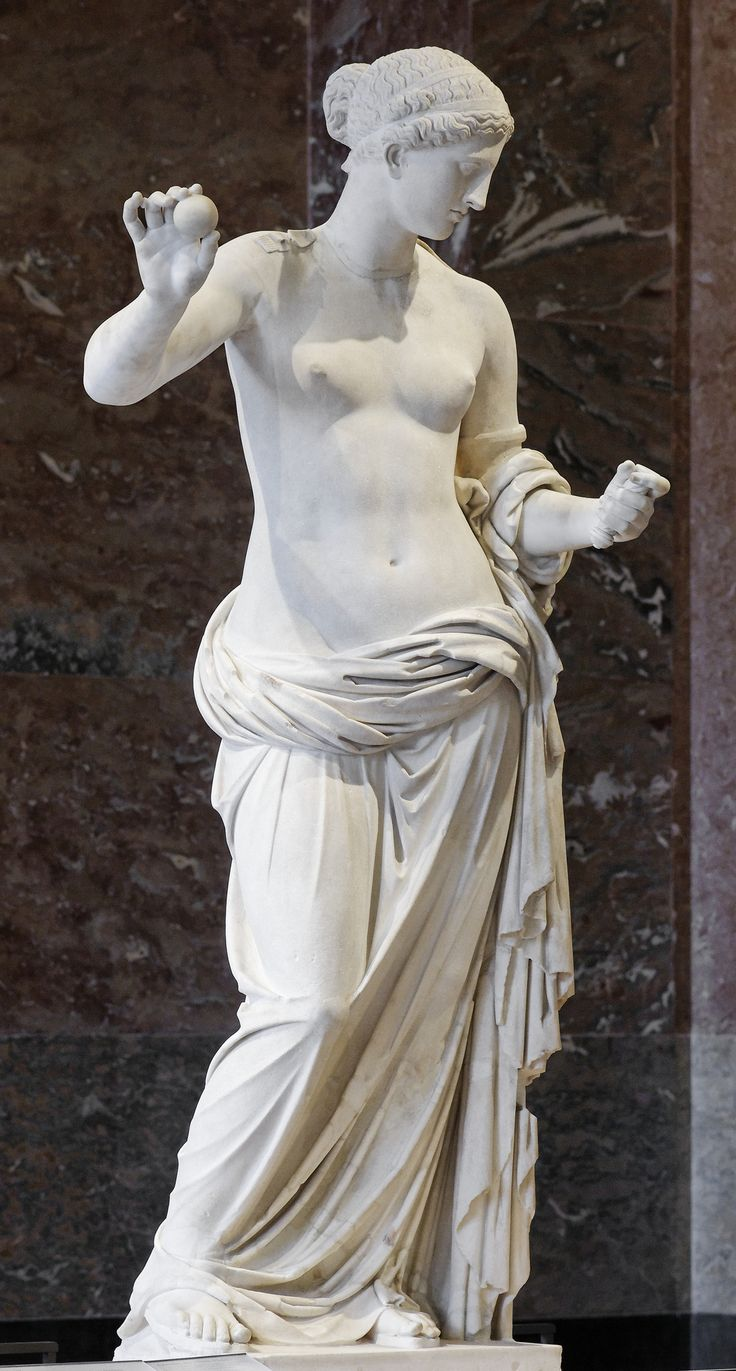 Statue of Aphrodite, known as the Venus of Arles. Hymettus marble, Roman…