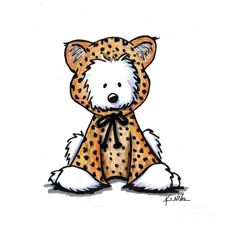 Leopard Cub Westie Drawing by Kim Niles