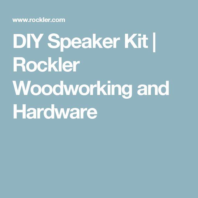 DIY Speaker Kit | Rockler Woodworking and Hardware