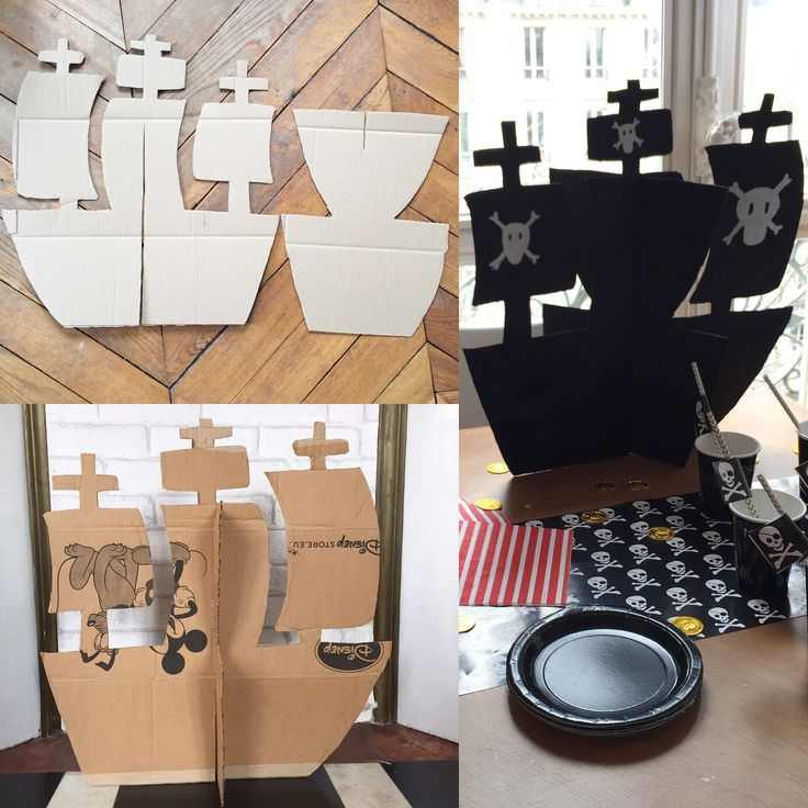 tuto bateau pirate birthday party pirate bateau pirate et bateau papier. Black Bedroom Furniture Sets. Home Design Ideas