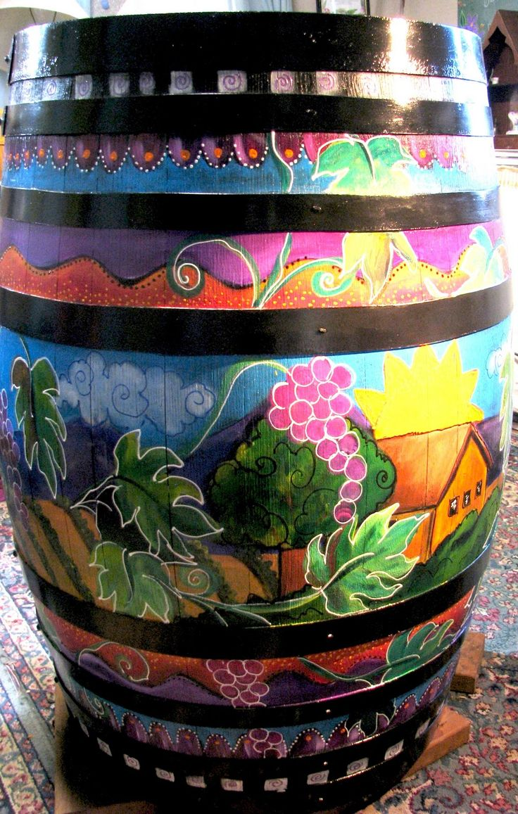 trash & rain barrel art | laurie miller design