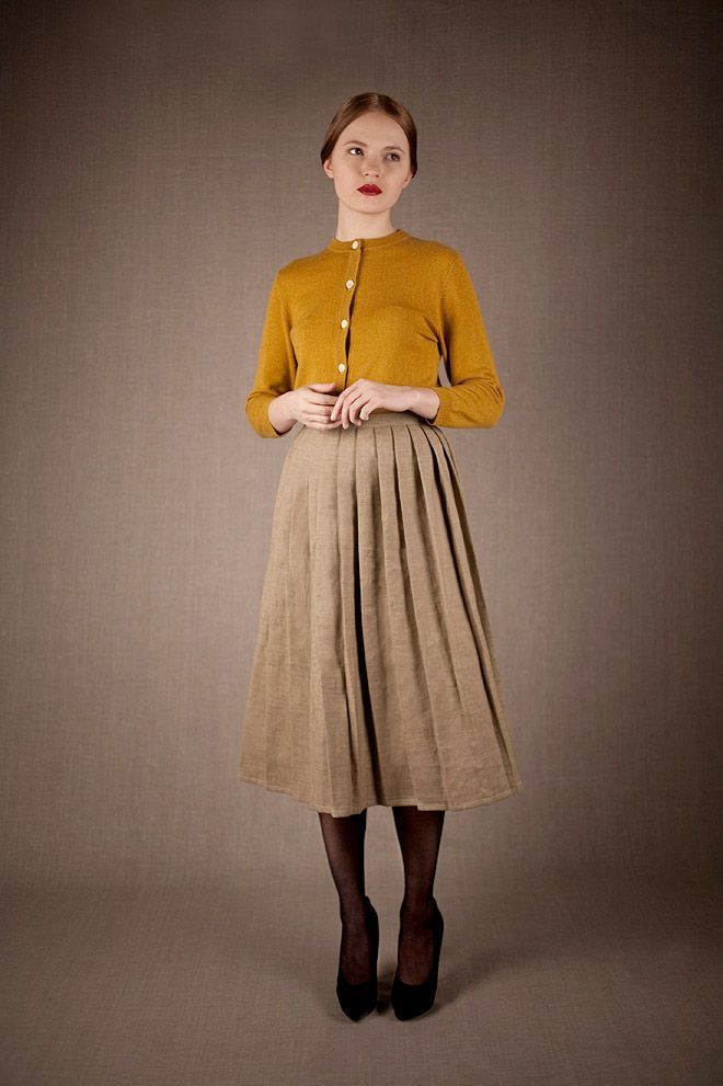 Mes Dames via Miss MossSkirts Canvas, Fashion, Clothing, Mellow Yellow, Dresses, Billy Skirts, Dame Aw12, Brown Tights, Mes Dame