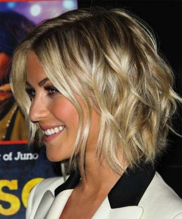 Cortes de pelo bob escalados: fotos de los peinados - Julianne Hough look