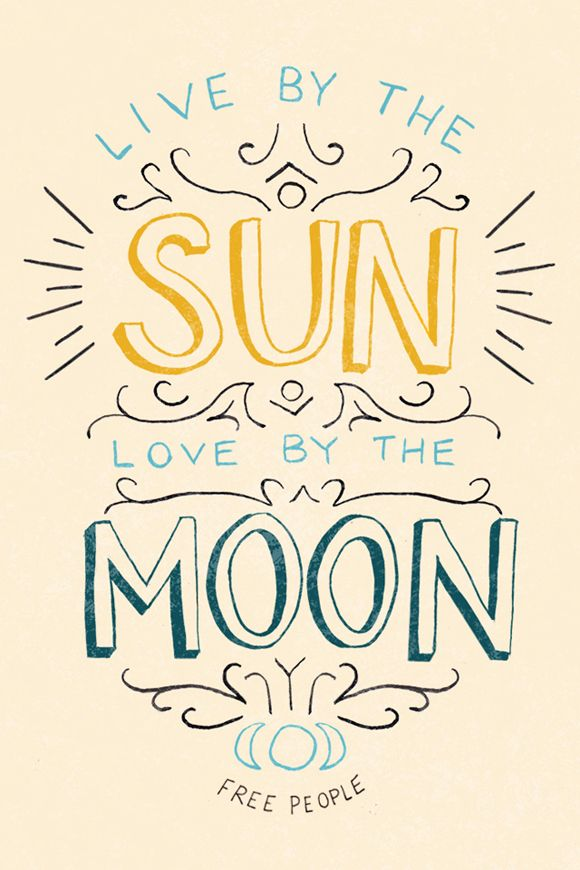 LIVE BY THE SUN LOVE BY THE MOON ☆ Desktop & iPhone Downloads Just For You! | Free People Blog #freepeople