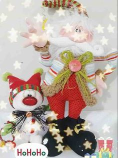 Molde: Noel country saludando con su mascota de nieve