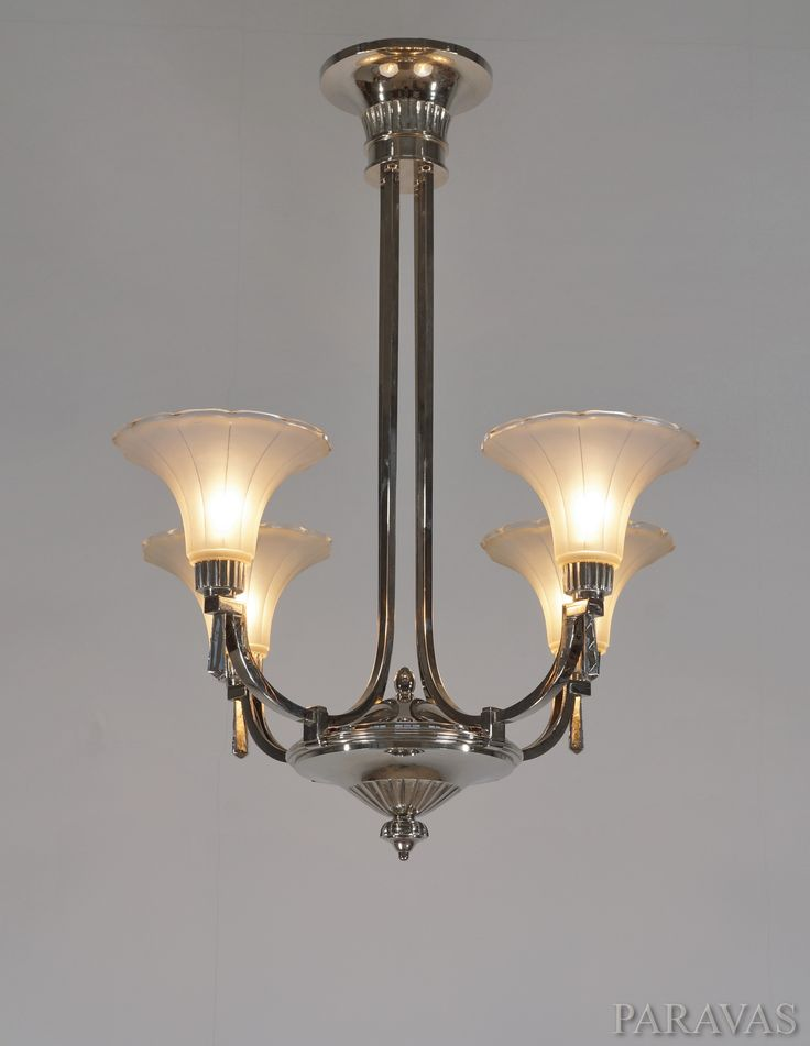 Henri petitot a beautiful 1935 modernist french art deco chandelier by la maison petitot