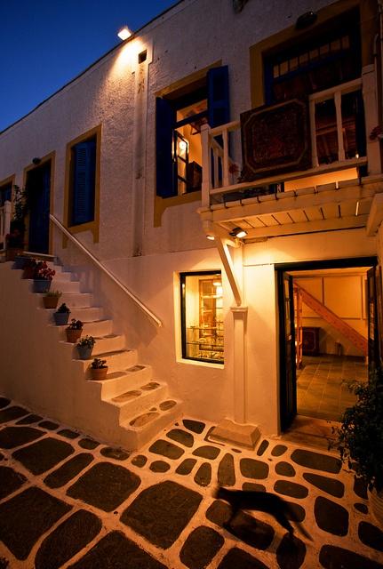 night stroll, Naoussa, Greece