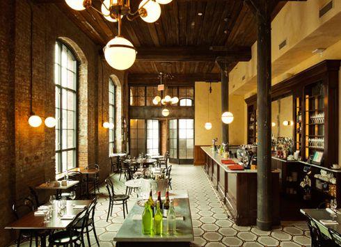 Wythe-Hotel-williamsburg-brooklyn-yatzer-10.jpg (490×355):  Eating House,  Eating Places, Williamsburg Brooklyn,  Eateri, Interiors, Eight Hotels, New York, Restaurant, Expo Brick