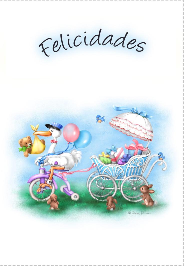 Tarjetas De Felicidades Para Imprimir Felicitaci 243 N Por Beb 233 Felicitaciones Nacimiento Y
