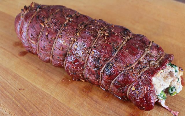 Stuffed Flank Steak on the Big Green Egg