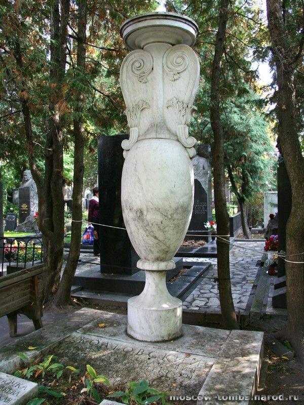 Надгробие на могиле И.В.Жолтовского на Новодевичьем кладбище