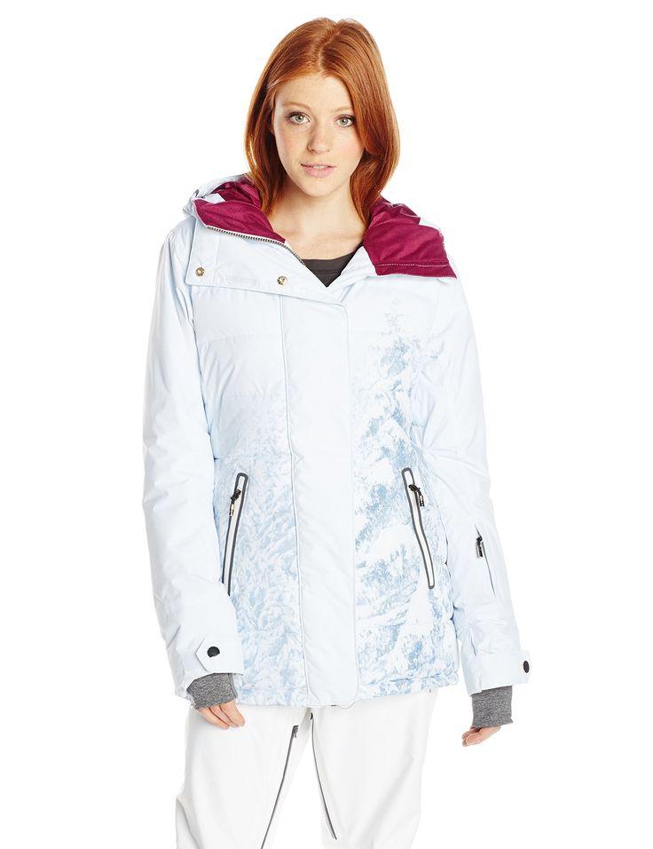 Roxy SNOW Junior's Torah Bright Crystalized Snow Jacket, Winter Forest, X-Small