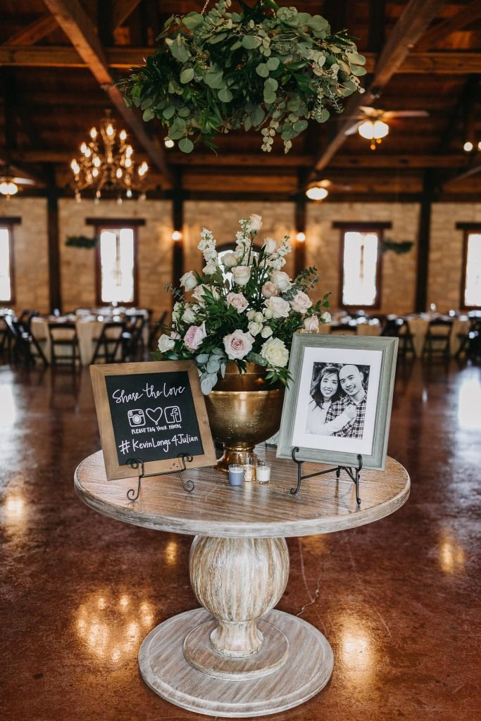 The Springs In Katy Wedding Welcome Table Indoor Wedding