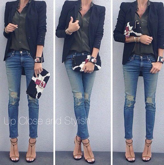 blazer and jeans never fail....