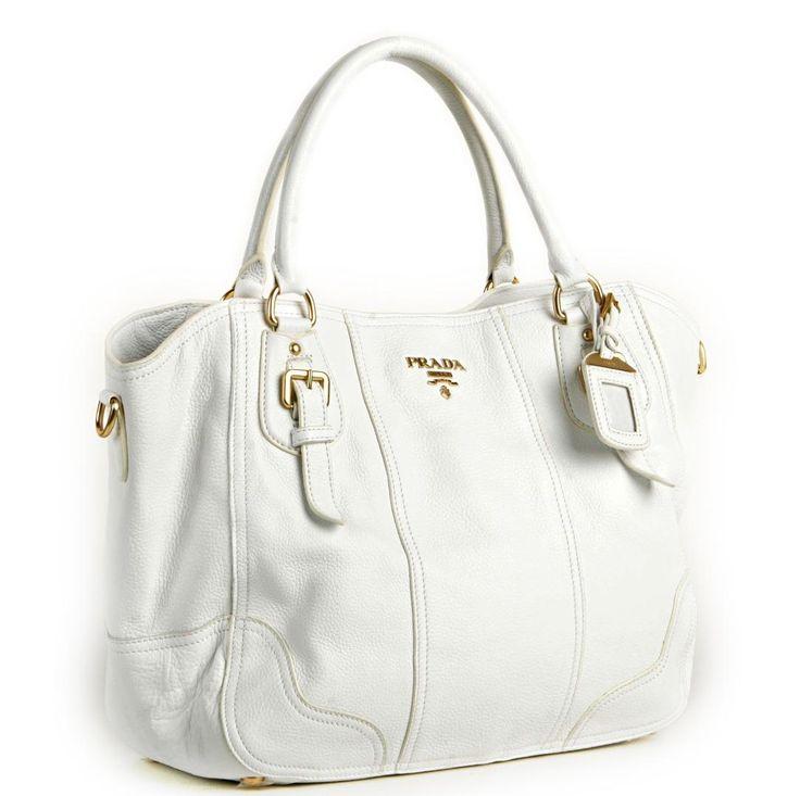 prada handbags - white prada handbag. http://tinyurl.com ...