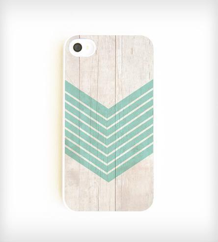Faux Wood Geometric iPhone Case - Aquamarine | Slim and sleek, this chic iPhone case sports a serene aquamari... | Mobile Phone Cases