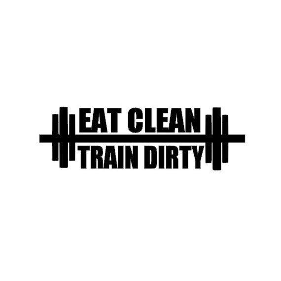 Eat Clean, Train Dirty Barbell Vinyl decal
