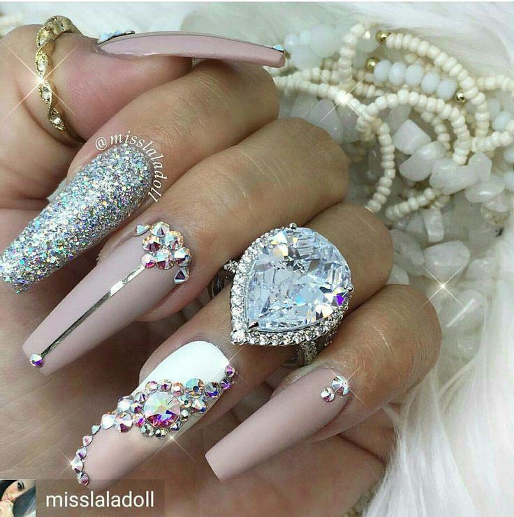Pin de Anissa S 💕 en Nails Pinterest - uas efecto espejo