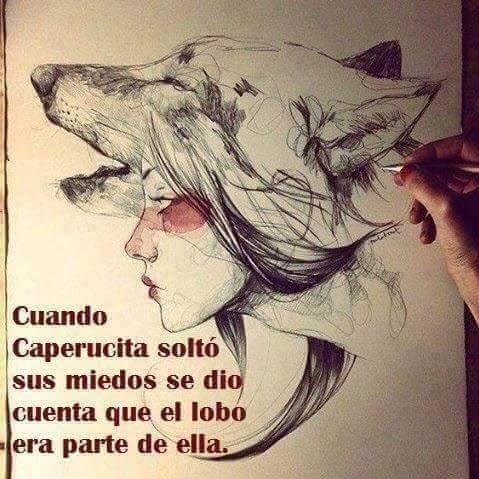 Cuando Caperucita soltó sus miedos se dio cuenta de que el lobo era parte de ella